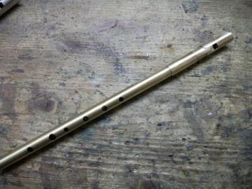 TWZ Tin Whistle Pure Brass in High D und C